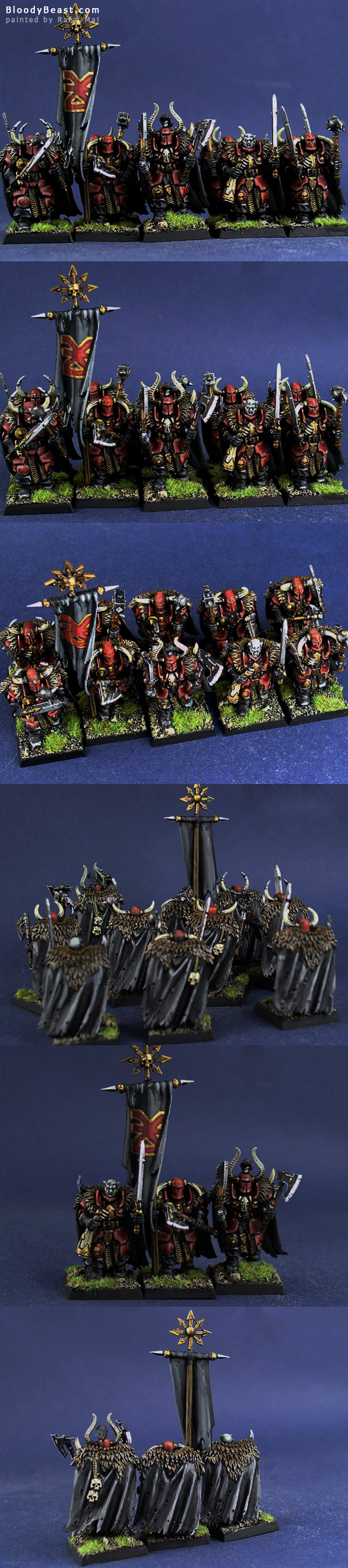 Chaos Warriors of Khorne painted by Rafal Maj (BloodyBeast.com)