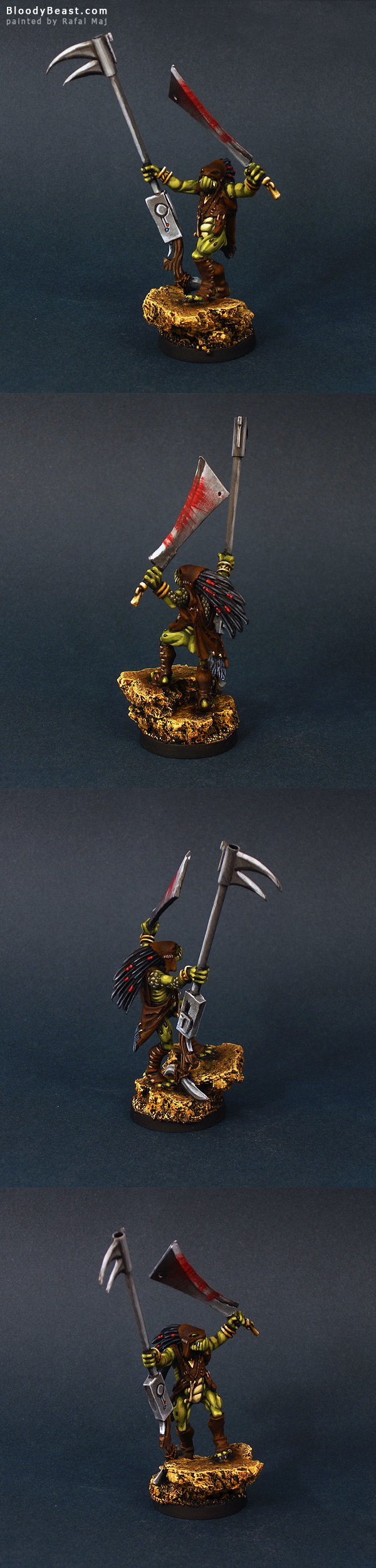 Tau Kroot Sharpshooter painted by Rafal Maj (BloodyBeast.com)