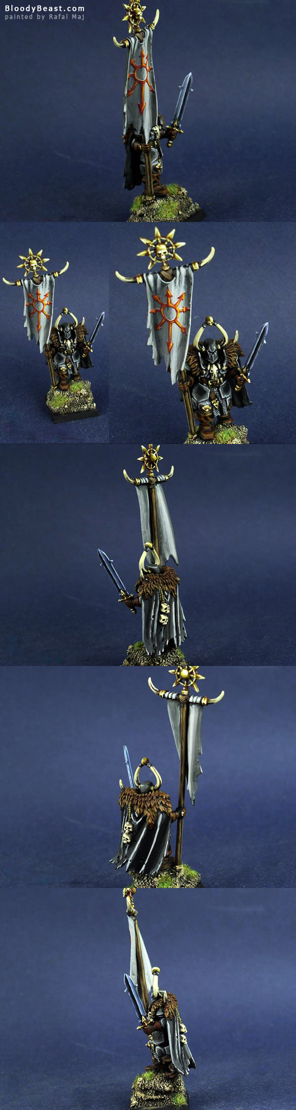 Chaos Standard Bearer of Undivided painted by Rafal Maj (BloodyBeast.com)