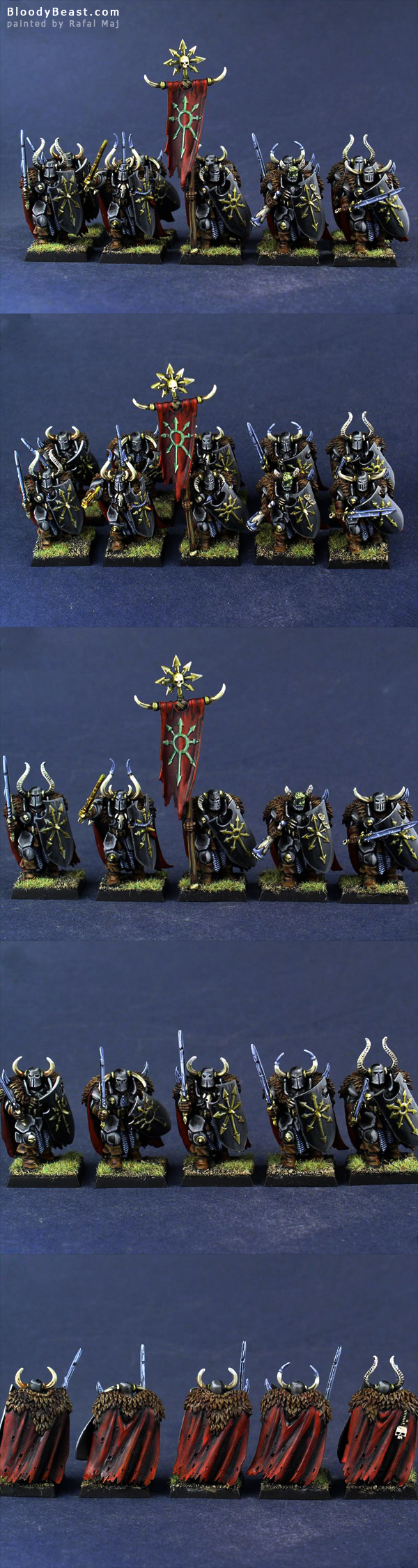 Chaos Warriors of Undivided painted by Rafal Maj (BloodyBeast.com)