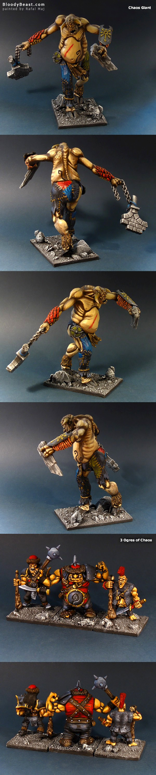 Chaos Warrior Battle Masters Army painted by Rafal Maj (BloodyBeast.com)