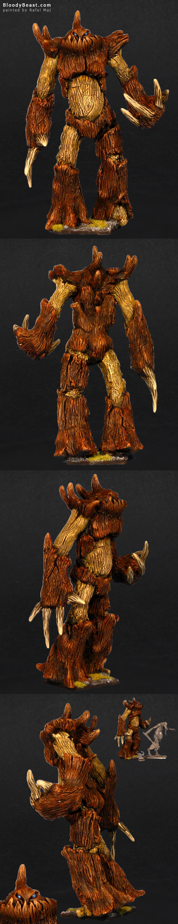 Wood Elf Treeman sculpted and painted by Rafal Maj (BloodyBeast.com)