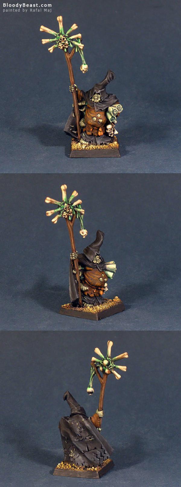 Chaos Sorcerer of Nurgle painted by Rafal Maj (BloodyBeast.com)