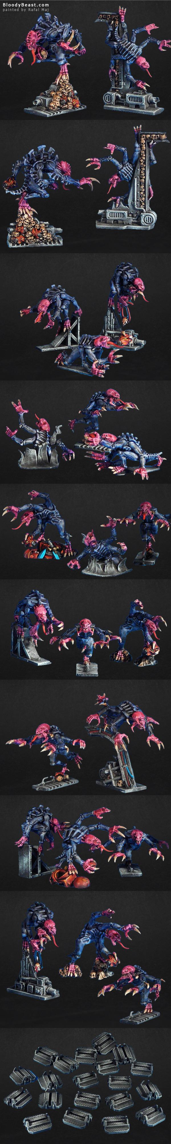 Space Hulk 3rd Edition Genestealers painted by Rafal Maj (BloodyBeast.com)