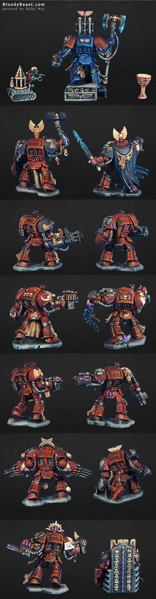Another Space Hulk 3rd Edition Terminators painted by Rafal Maj (BloodyBeast.com)