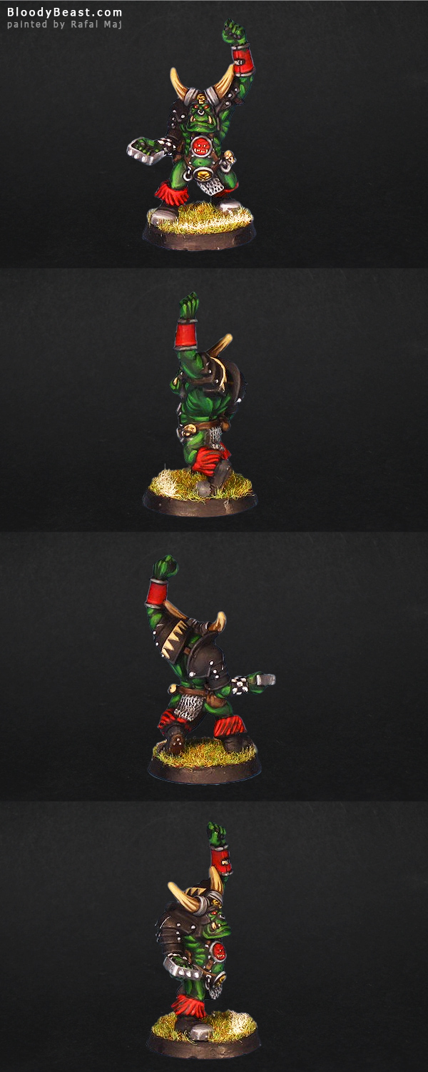 Blood Bowl Black Orc Bocker painted by Rafal Maj (BloodyBeast.com)