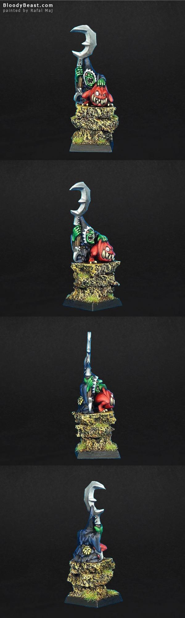 Night Goblin BigBoss with Squig painted by Rafal Maj (BloodyBeast.com)