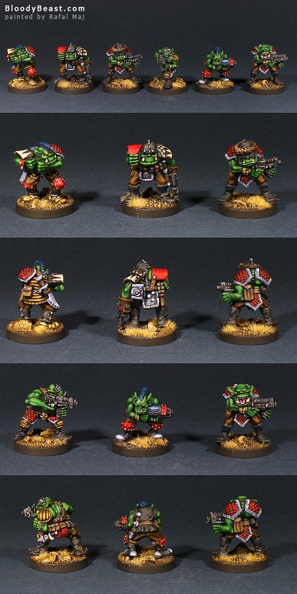 Space Orks Rogue Trader painted by Rafal Maj (BloodyBeast.com)