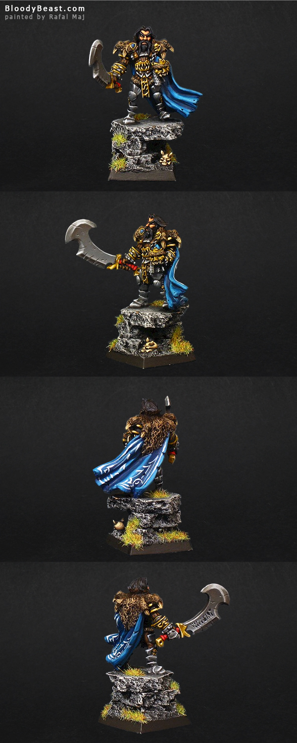 Orba Sinhan, Mercenaries Warlord painted by Rafal Maj (BloodyBeast.com)