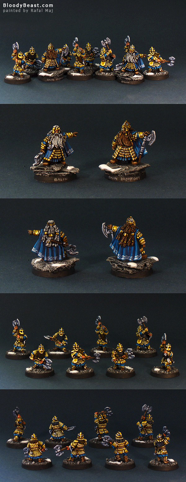 Dain and Balin and Dwarf Guards painted by Rafal Maj (BloodyBeast.com)