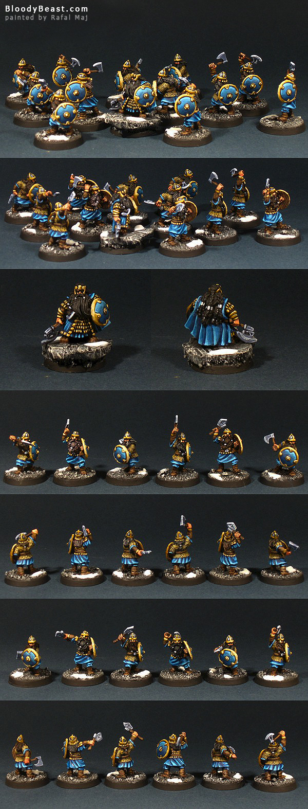 Dwarf Warriors with Balin painted by Rafal Maj (BloodyBeast.com)