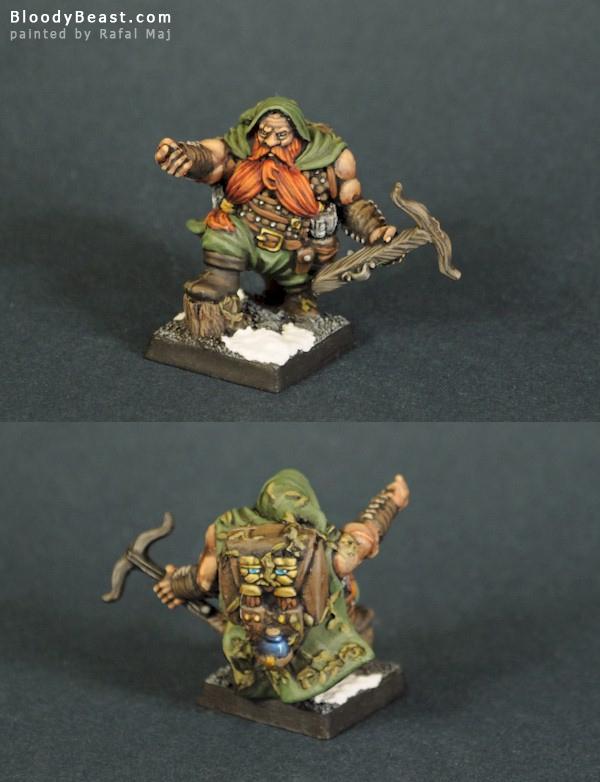 WarCanto Dwarf Ranger painted by Rafal Maj (BloodyBeast.com)