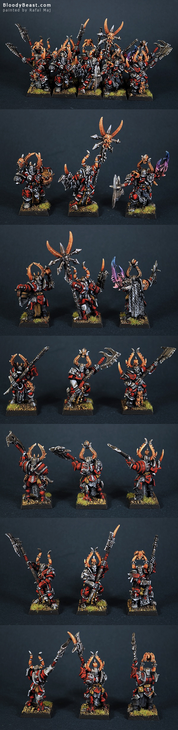 Chaos Chosen Warriors of Khorne painted by Rafal Maj (BloodyBeast.com)