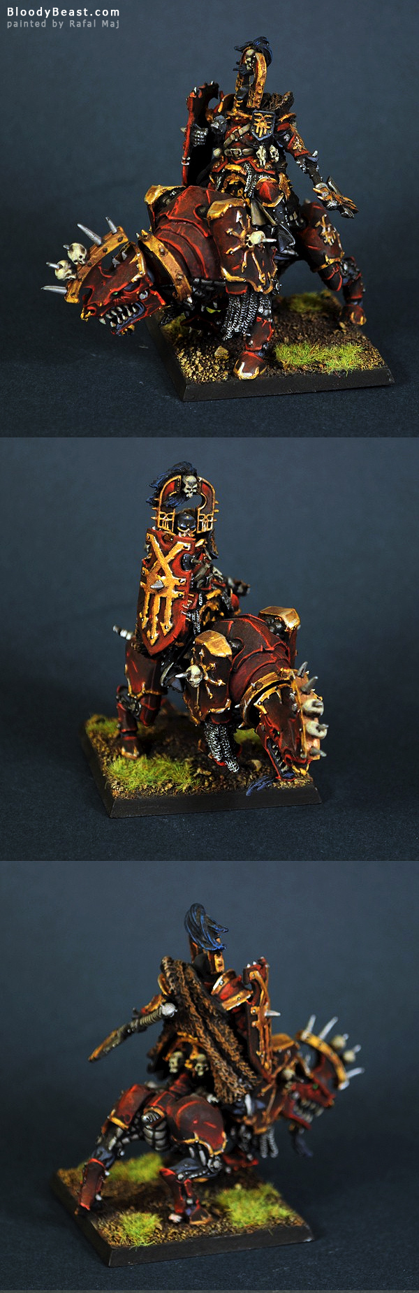 Chaos Khorne Lord on Juggernaut painted by Rafal Maj (BloodyBeast.com)