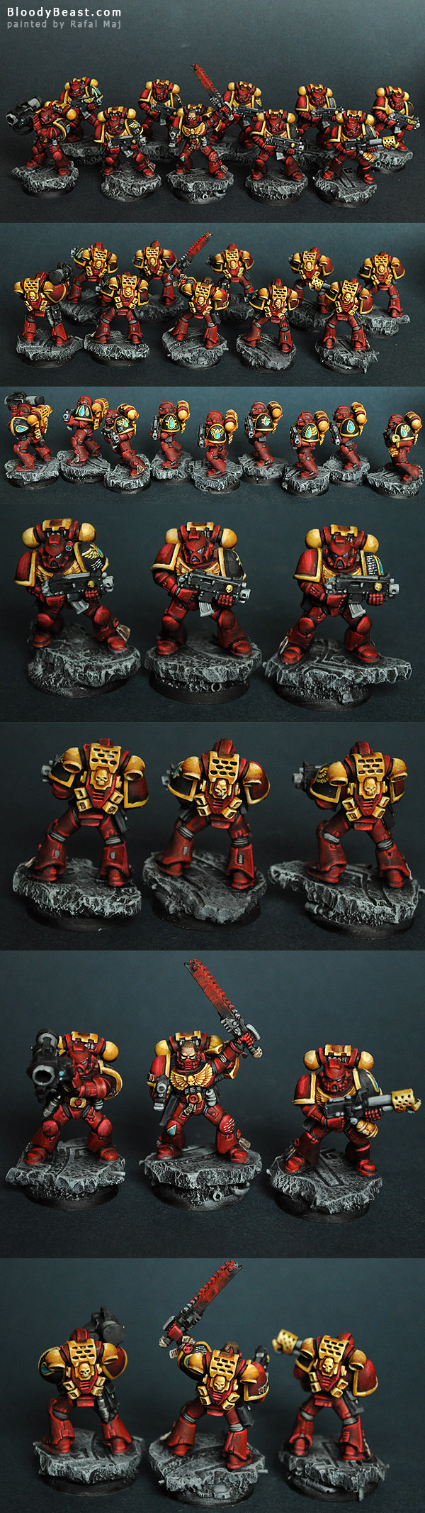 Blood Angels Space Marines Tactical Squad painted by Rafal Maj (BloodyBeast.com)