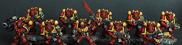 Blood Angels Space Marines Tactical Squad