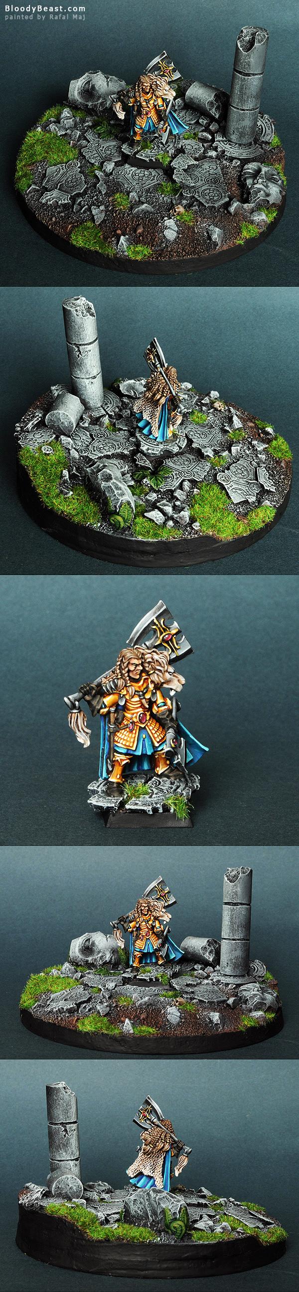 Korhil High Elf Hero painted by Rafal Maj (BloodyBeast.com)