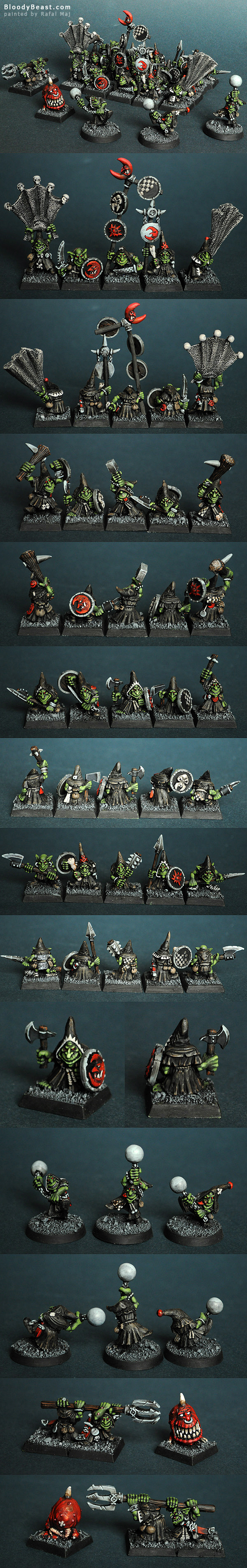 Night Goblins and Squig painted by Rafal Maj (BloodyBeast.com)