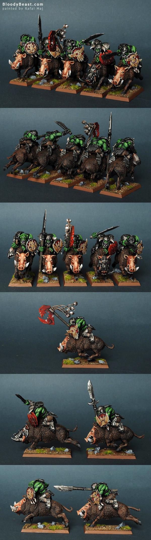 Orc Boar Boyz painted by Rafal Maj (BloodyBeast.com)