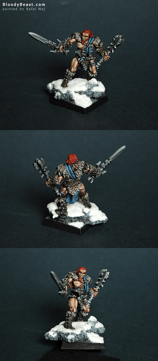 Grundor Hoardtaker, Mercenaries Sergeant (Reaper 14002) painted by Rafal Maj (BloodyBeast.com)