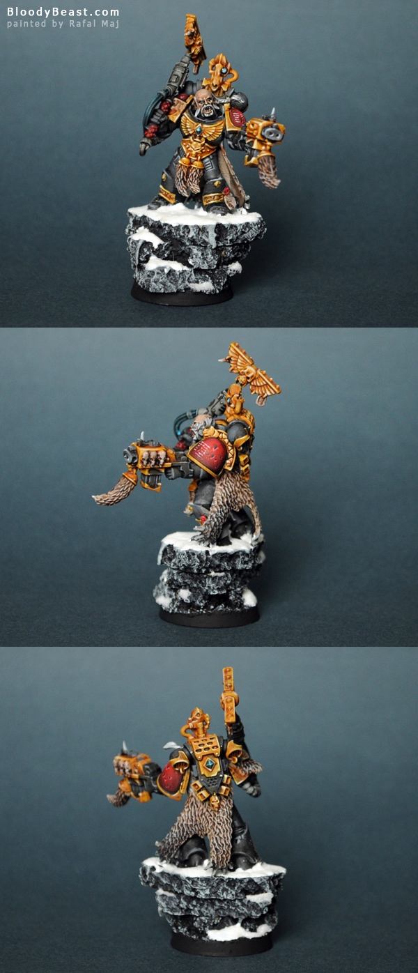 Space Wolves Rune Priest painted by Rafal Maj (BloodyBeast.com)