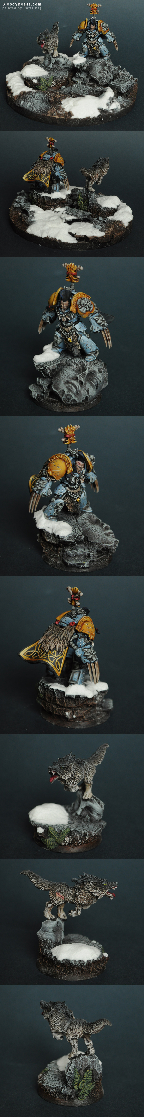 Space Wolf Lord painted by Rafal Maj (BloodyBeast.com)