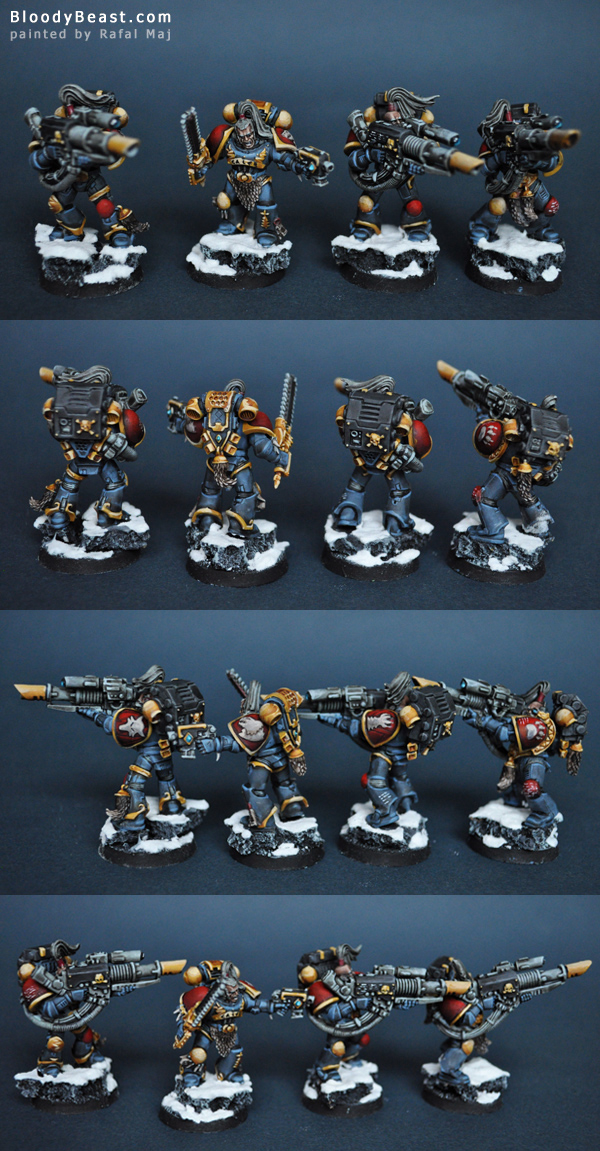Space Wolves Long Fangs with Lascannons painted by Rafal Maj (BloodyBeast.com)