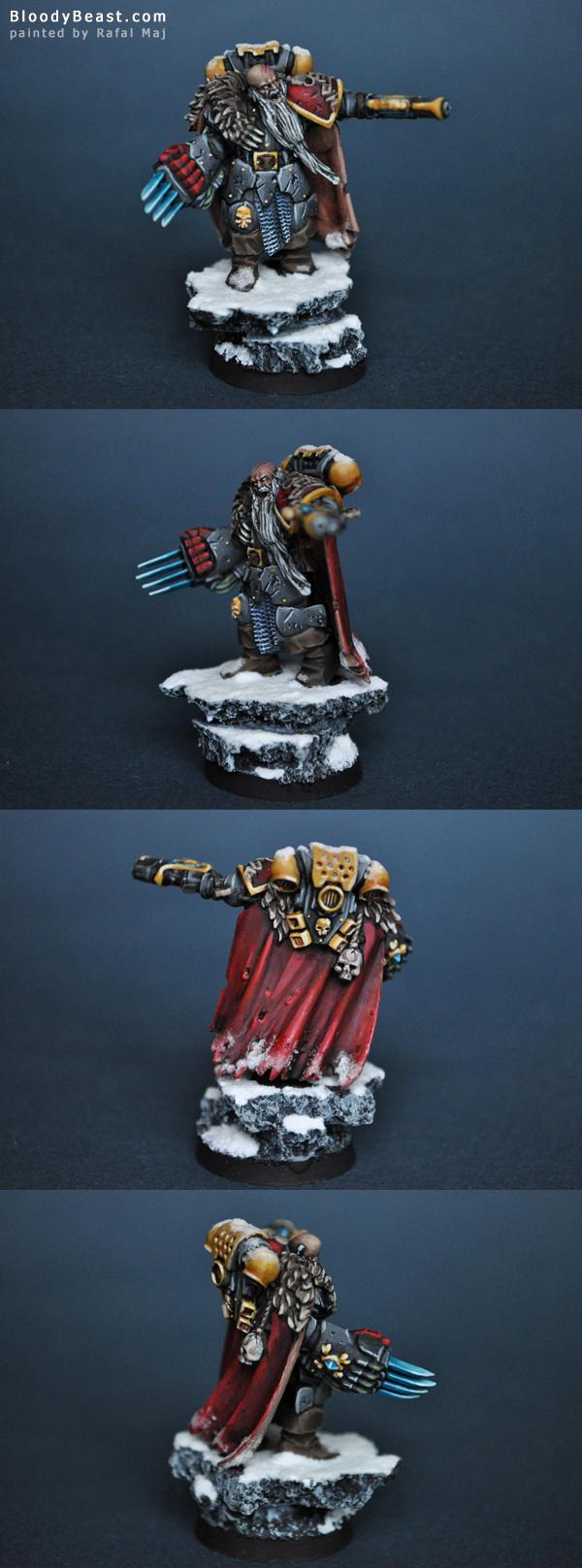Space Wolf Rune Priest painted by Rafal Maj (BloodyBeast.com)