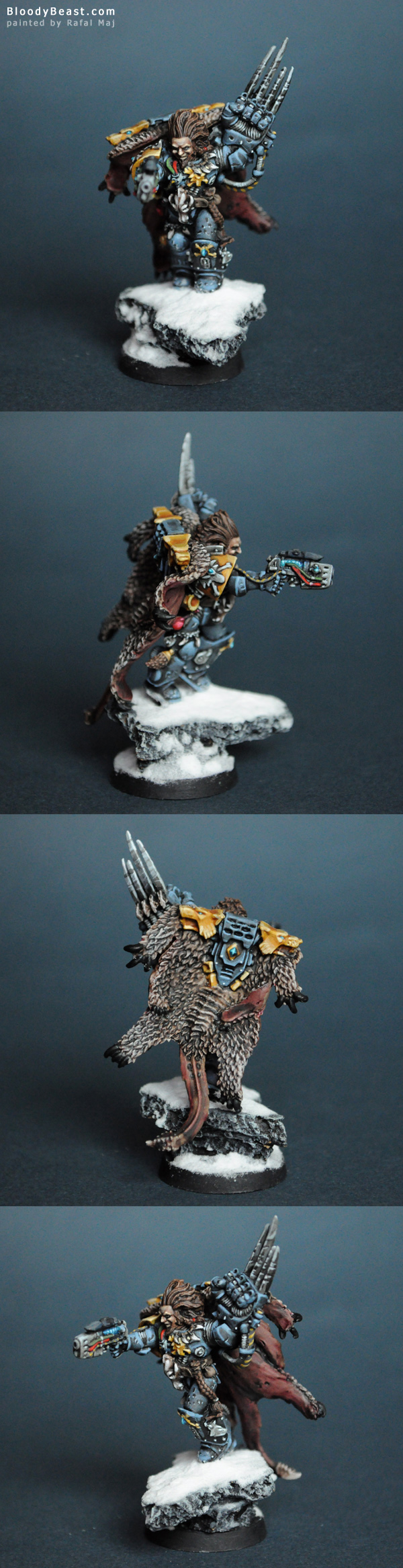 Space Wolf Lukas the Trickster painted by Rafal Maj (BloodyBeast.com)