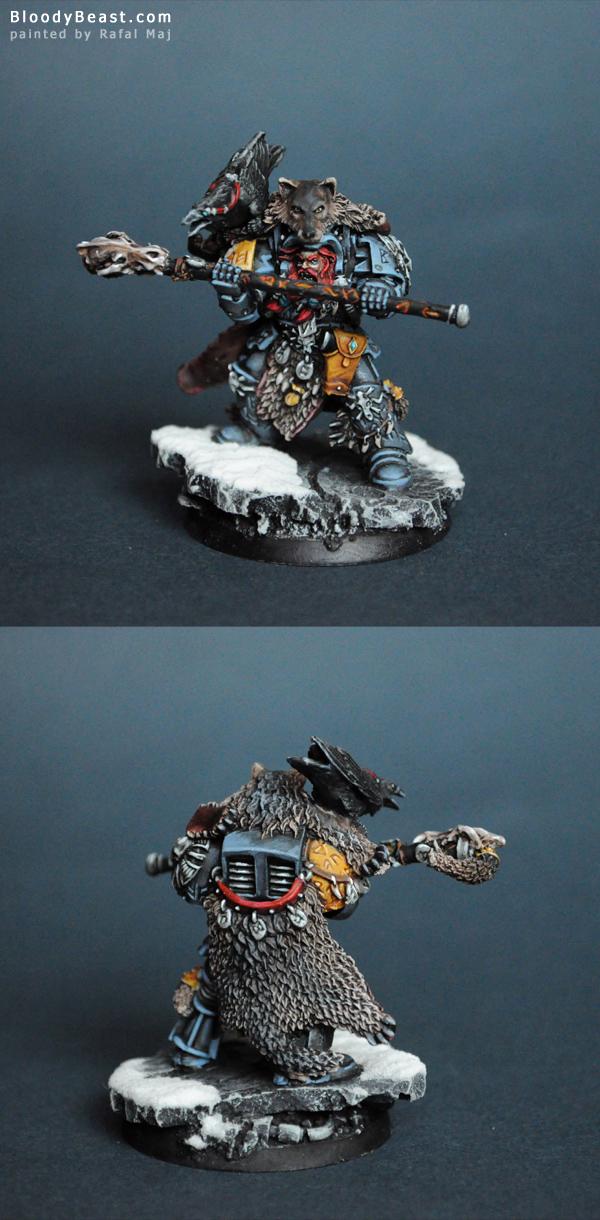 Space Wolf Njal Stormcaller painted by Rafal Maj (BloodyBeast.com)