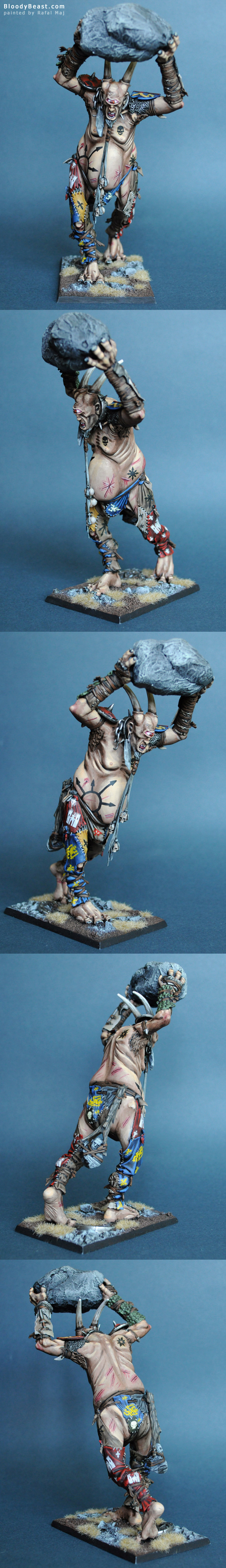 Beastmen Cygor painted by Rafal Maj (BloodyBeast.com)
