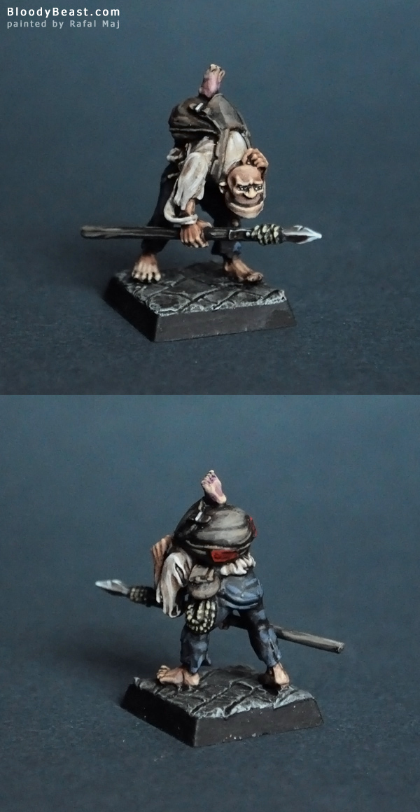 Mordheim Undead Dreg with Spear painted by Rafal Maj (BloodyBeast.com)
