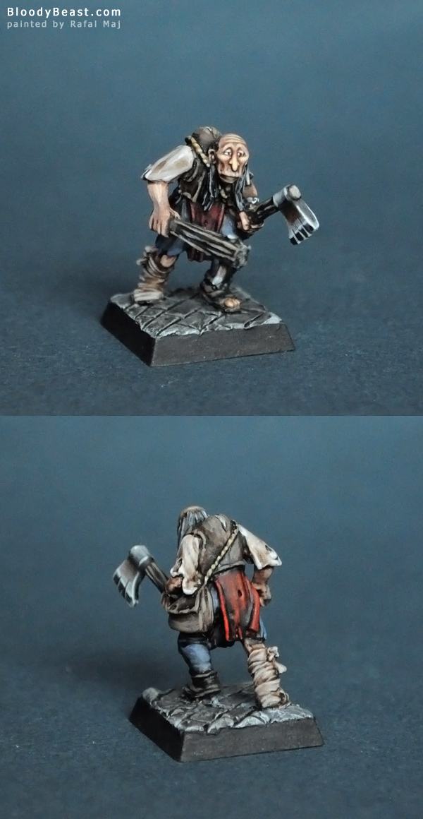 Mordheim Undead Dreg with Axe and Club painted by Rafal Maj (BloodyBeast.com)