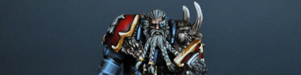 Space Wolves Lone Wolf with Thunderhammer and Storm Shield
