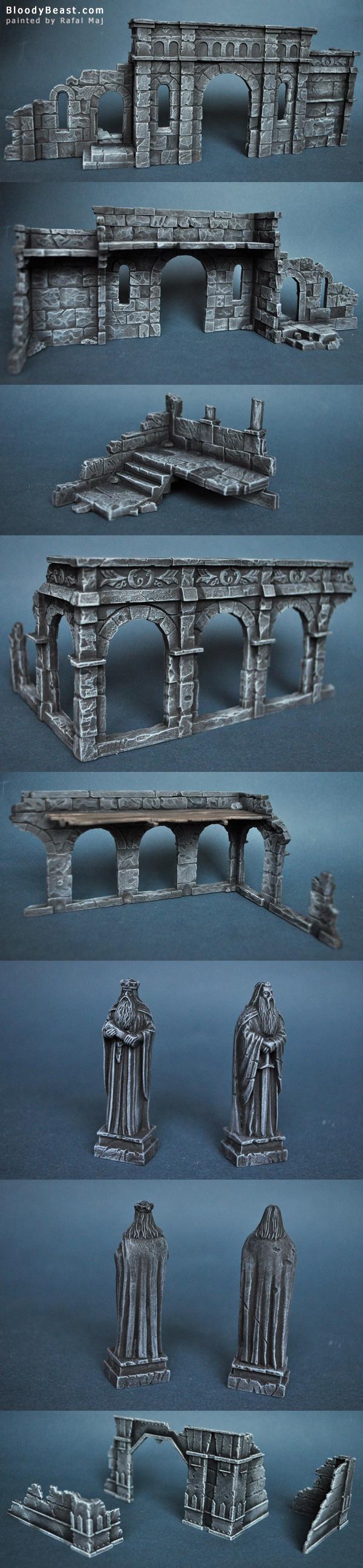 Ruins of Osgiliath painted by Rafal Maj (BloodyBeast.com)