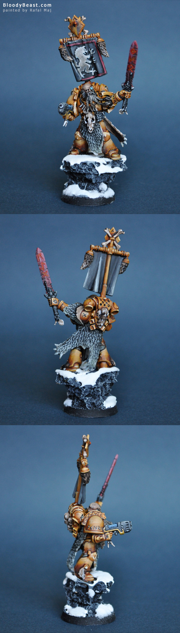 Space Wolf Rune Priest painted by Rafal Maj (BloodyBeast.com)