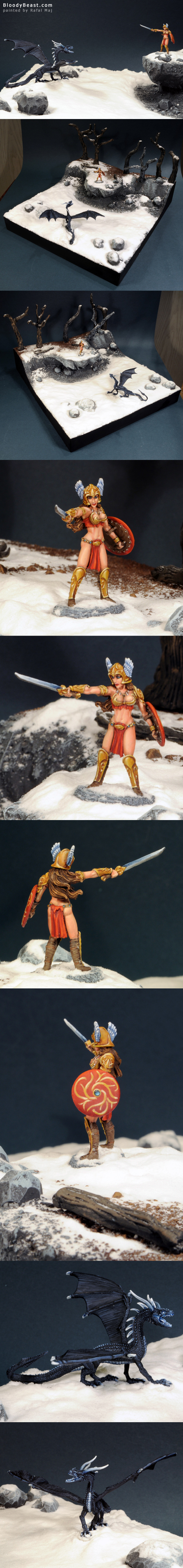 CMON 22 Female Barbarian painted by Rafal Maj (BloodyBeast.com)