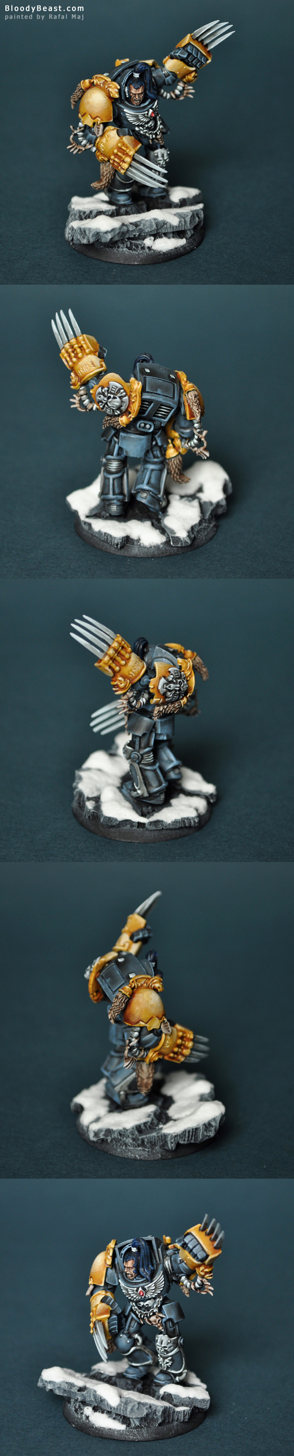 Wolf Guard in Terminator Armor painted by Rafal Maj (BloodyBeast.com)