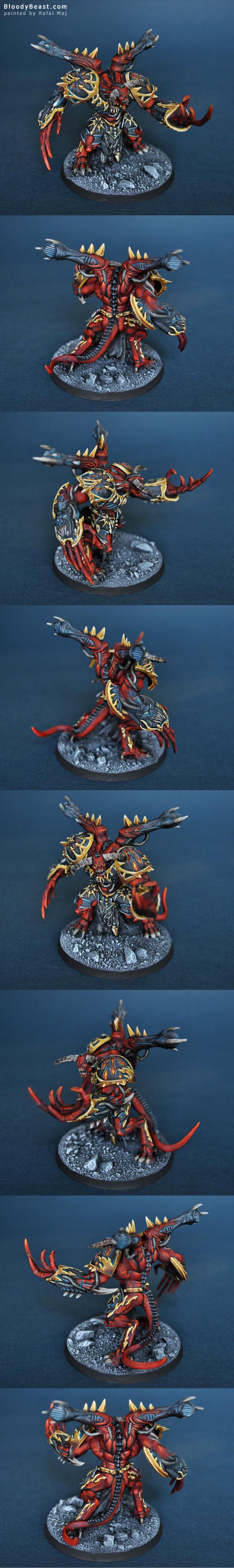 Chaos Daemon Prince painted by Rafal Maj (BloodyBeast.com)