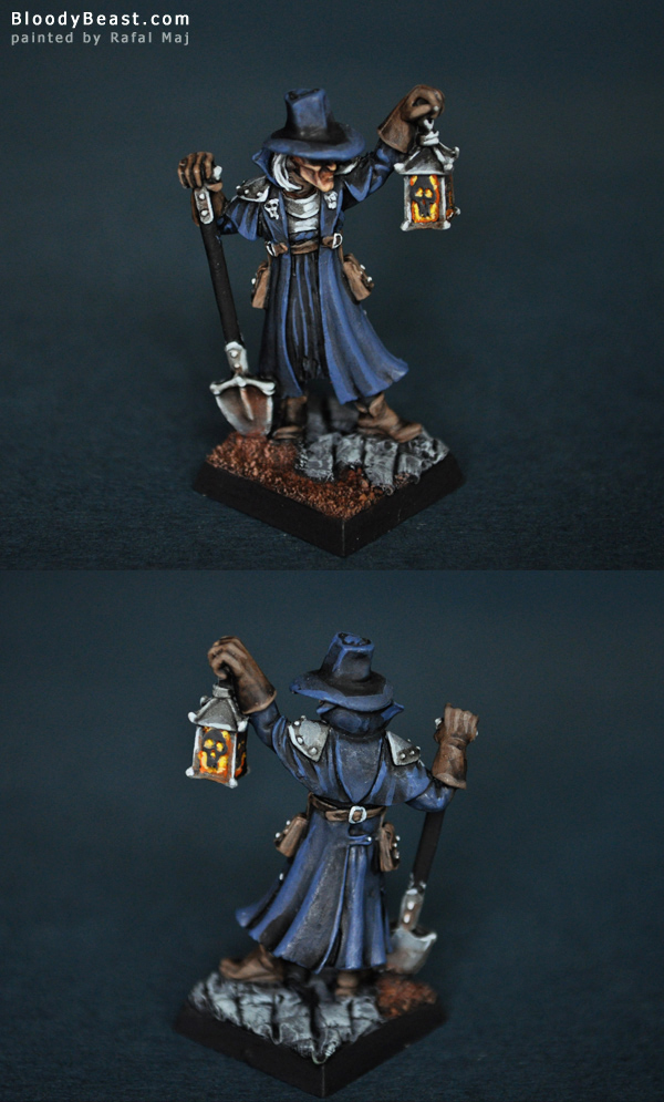 Reaper 02845 Townsfolk VI Gravedigger painted by Rafal Maj (BloodyBeast.com)