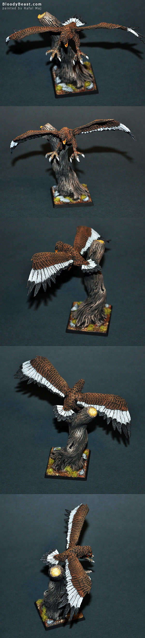 Wood Elf Great Eagle painted by Rafal Maj (BloodyBeast.com)