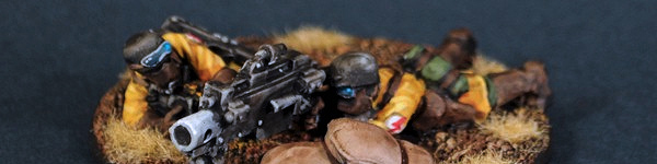 Steel Legion Heavy Bolter Team