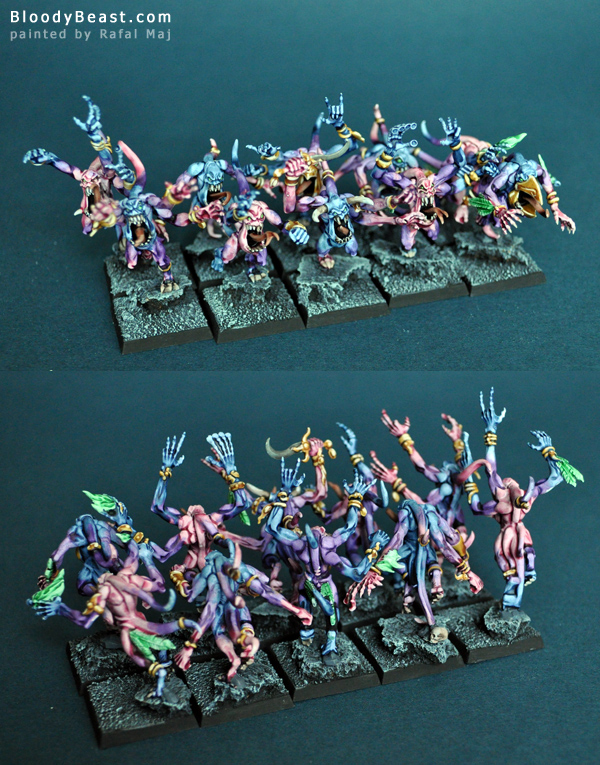 Pink Horros of Tzeentch painted by Rafal Maj (BloodyBeast.com)