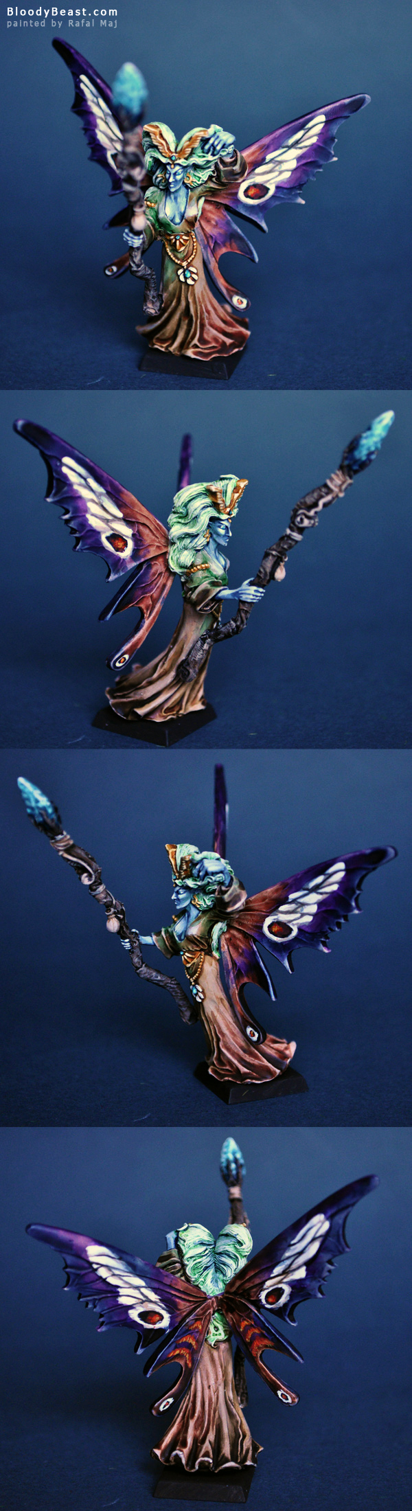 Ariel the Queen of the Wood painted by Rafal Maj (BloodyBeast.com)