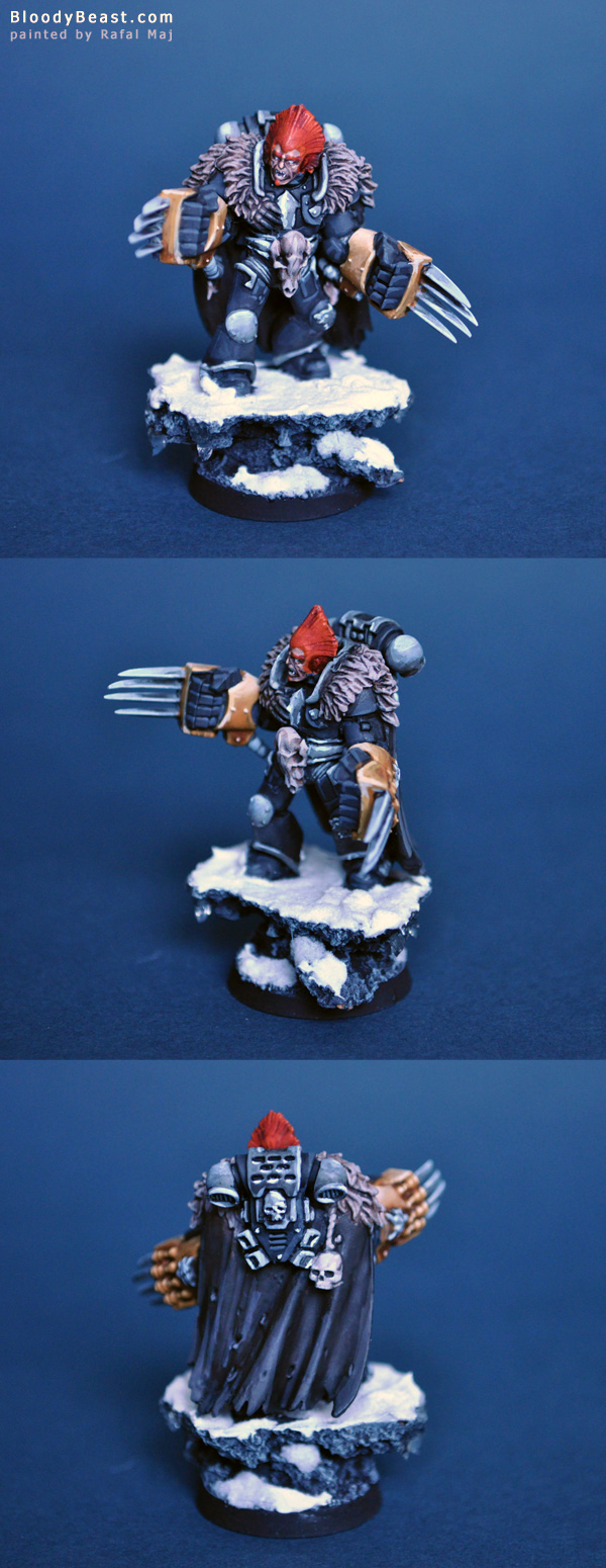 Space Wolves Lone Wolf painted by Rafal Maj (BloodyBeast.com)