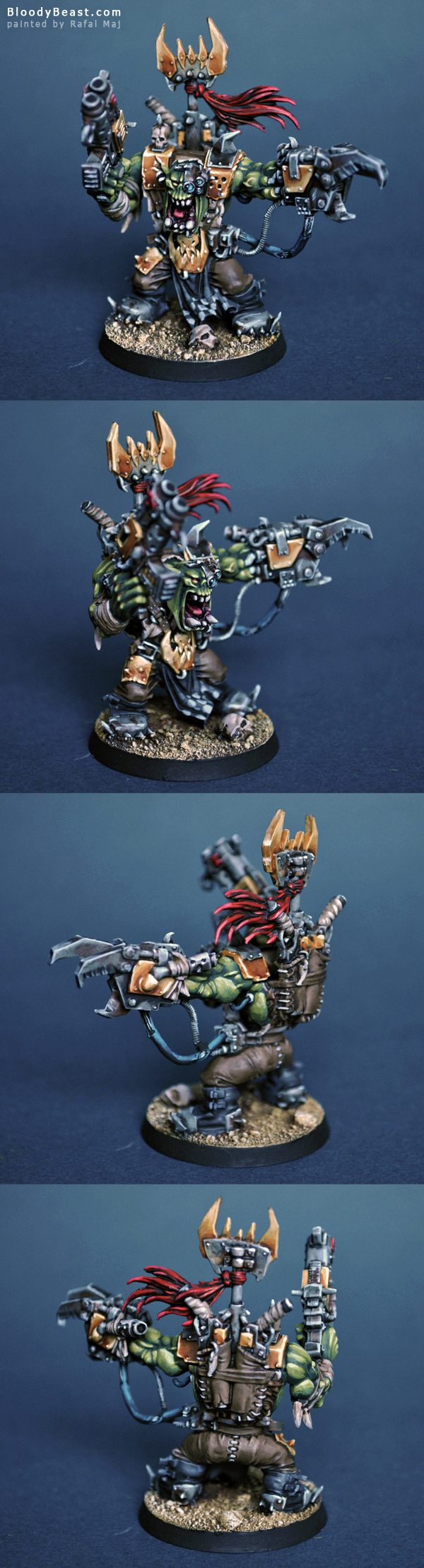 Ork Warboss painted by Rafal Maj (BloodyBeast.com)