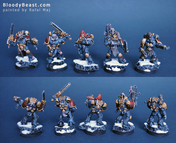 Space Wolves Squad painted by Rafal Maj (BloodyBeast.com)