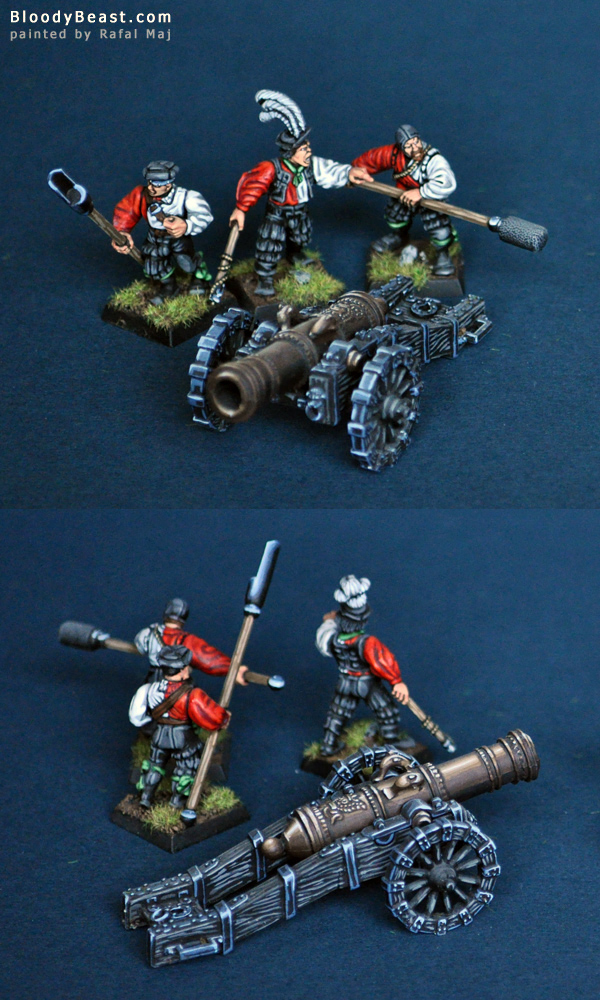 Empire Great Cannon with Crew painted by Rafal Maj (BloodyBeast.com)