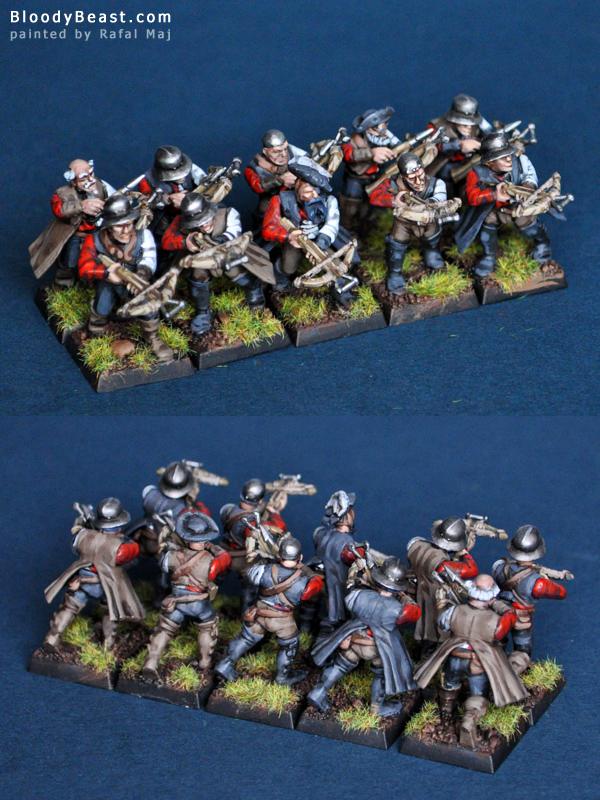 Empire Crossbowmen painted by Rafal Maj (BloodyBeast.com)