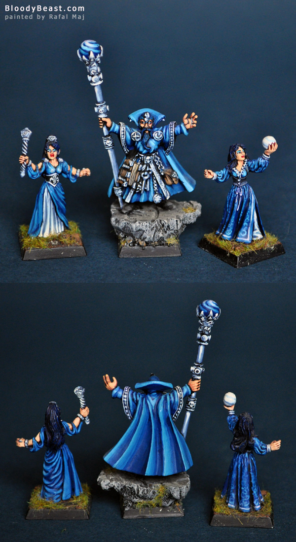 Wizard Lord of Heaven and 2 Battle Wizards of Heaven painted by Rafal Maj (BloodyBeast.com)
